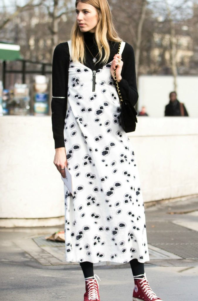 Turtlenecks-under-dresses.-1-675x1024 140+ Lovely Women's Outfit Ideas for Winter 2020 / 2021