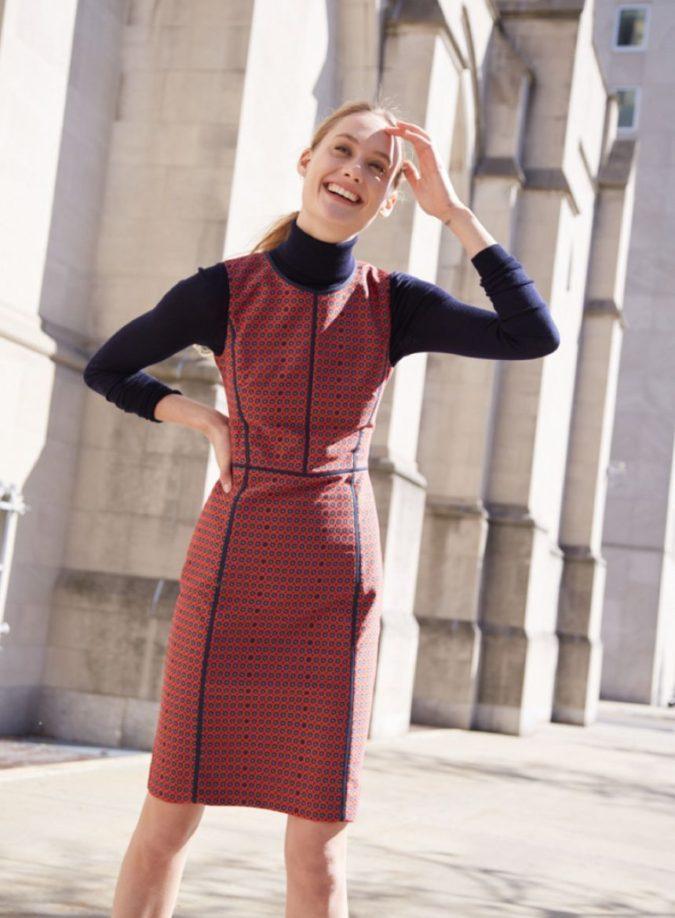 Turtlenecks-under-dresses.-675x918 140+ Lovely Women's Outfit Ideas for Winter in 2021