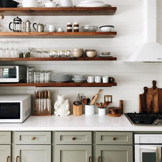 Using-shelves--675x675 100+ Smartest Storage Ideas for Small Kitchens in 2021