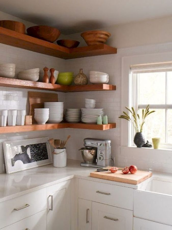 Using-shelves-.-675x902 100+ Smartest Storage Ideas for Small Kitchens in 2021