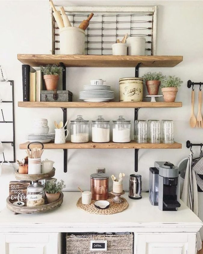 Using-shelves-675x843 100+ Smartest Storage Ideas for Small Kitchens in 2021