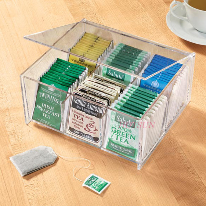 Using-tea-bag-organizer-.-675x675 100+ Smartest Storage Ideas for Small Kitchens in 2021