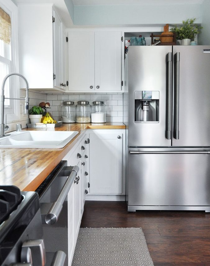 Using-your-fridges-top-1-675x855 100+ Smartest Storage Ideas for Small Kitchens in 2021