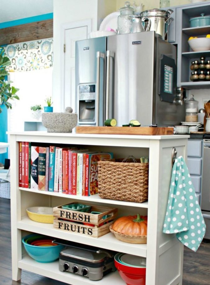Using-your-fridges-top-2-675x917 100+ Smartest Storage Ideas for Small Kitchens in 2021