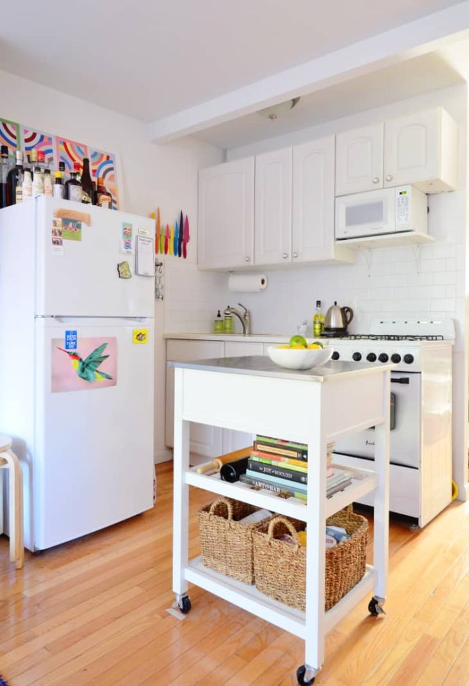 Using-your-fridges-top.-675x987 100+ Smartest Storage Ideas for Small Kitchens in 2021