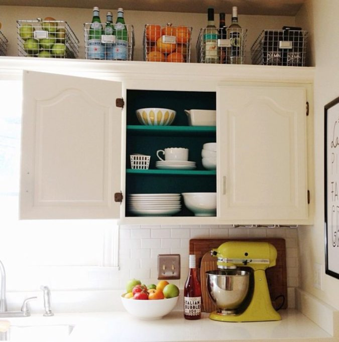 Utilizing-baskets-.-675x682 100+ Smartest Storage Ideas for Small Kitchens in 2021