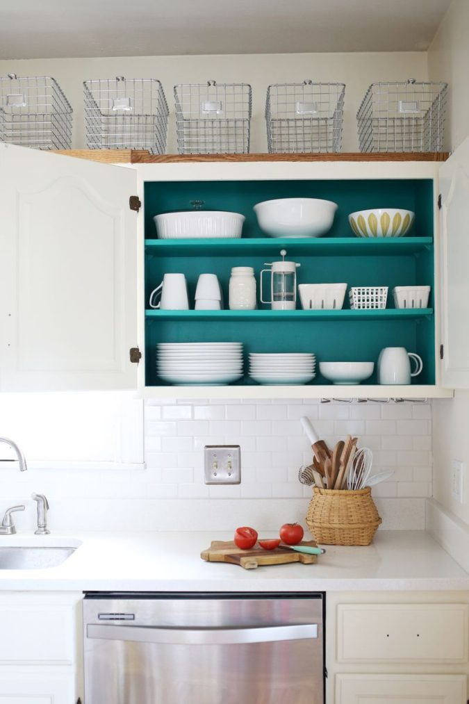 Utilizing-baskets-675x1013 100+ Smartest Storage Ideas for Small Kitchens in 2021