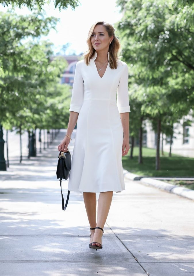 V-neck-midi-dress..-675x959 140 First-Date Outfit Ideas That Make You Special
