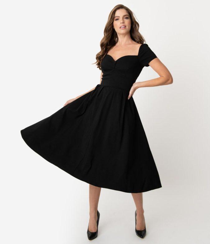 Vintage-dress.-2-675x786 120 Splendid Women's Outfits for Evening Weddings