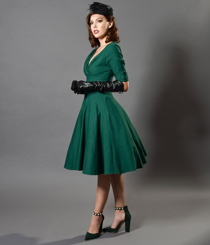 Vintage-dress...-675x786 120 Splendid Women's Outfits for Evening Weddings