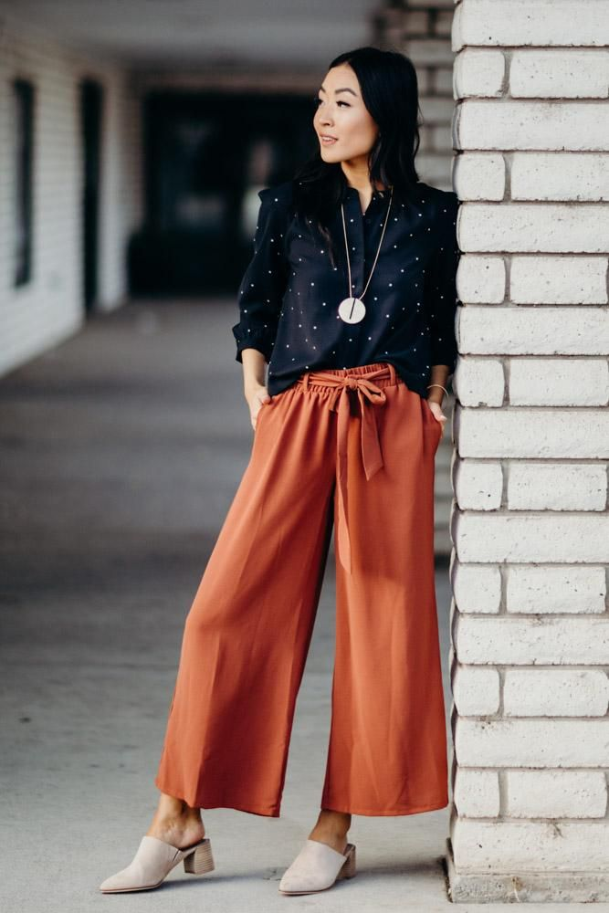 Wide-leg-pants-3 140 First-Date Outfit Ideas That Make You Special