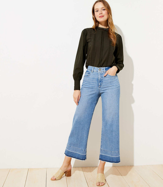 Wide-leg-pants..-675x777 140 First-Date Outfit Ideas That Make You Special
