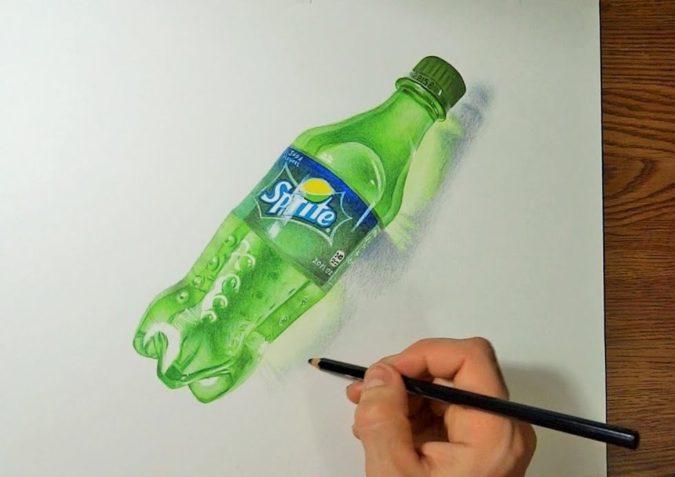 bottle.-1-675x477 Top 10 Coolest Unique Drawing Ideas for Teens