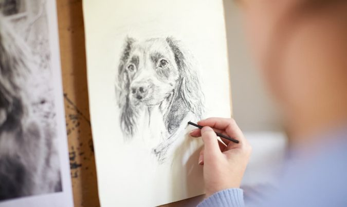 dog-675x404 Top 10 Coolest Unique Drawing Ideas for Teens