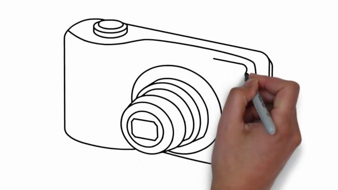 drawing-a-Camera-675x380 Top 10 Easiest Things to Draw
