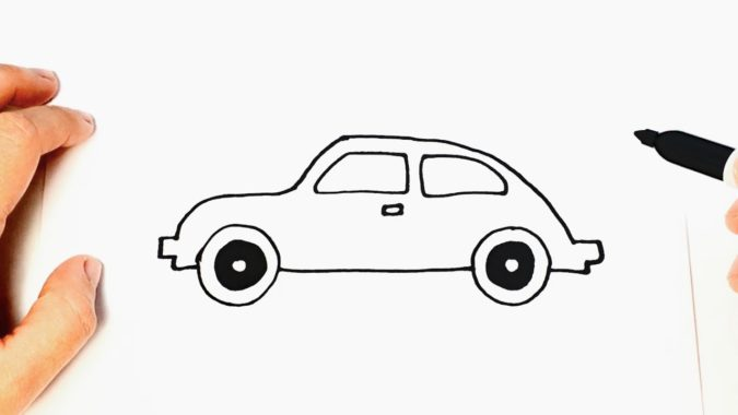 drawing-a-car.-675x380 Top 10 Easiest Things to Draw