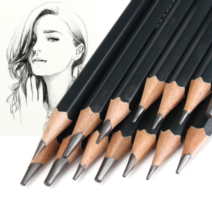 pens-675x675 How to Draw a Realistic Face Step By Step