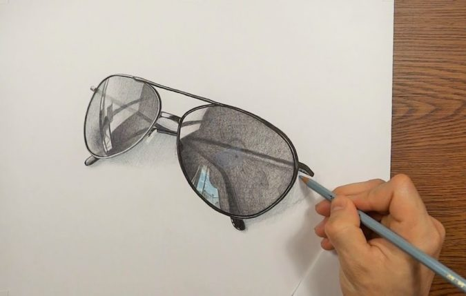 sunglasses-1-675x429 Top 10 Coolest Unique Drawing Ideas for Teens