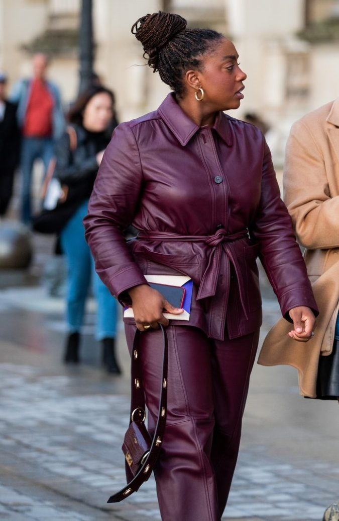 Colored-leather-2-675x1035 70+ Stylish Plus-Size Fashion Trends in 2021