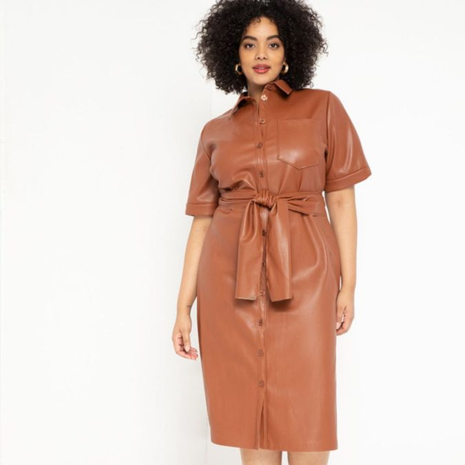 Colored-leather.-675x675 70+ Stylish Plus-Size Fashion Trends in 2021