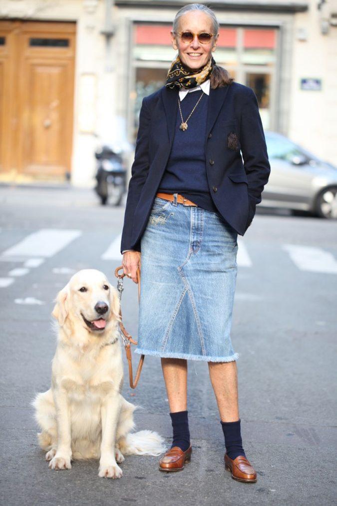 Denim-jean-skirt.-3-675x1013 80+ Fabulous Outfits for Women Over 50