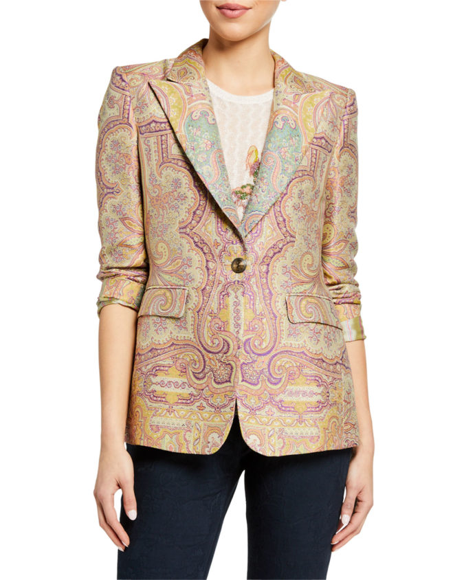 Embroidered-jacquard-jacket.-675x844 80+ Fabulous Outfits for Women Over 50