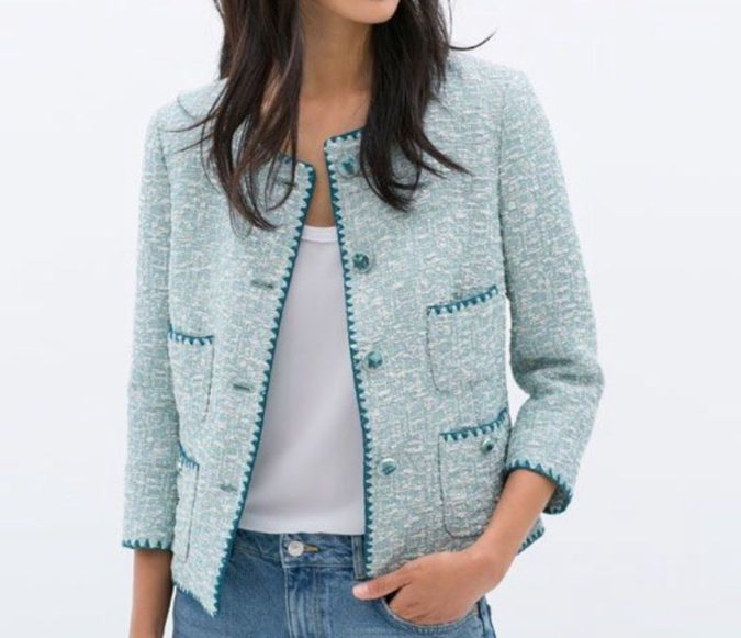 Embroidered-jacquard-jacket..-675x581 80+ Fabulous Outfits for Women Over 50