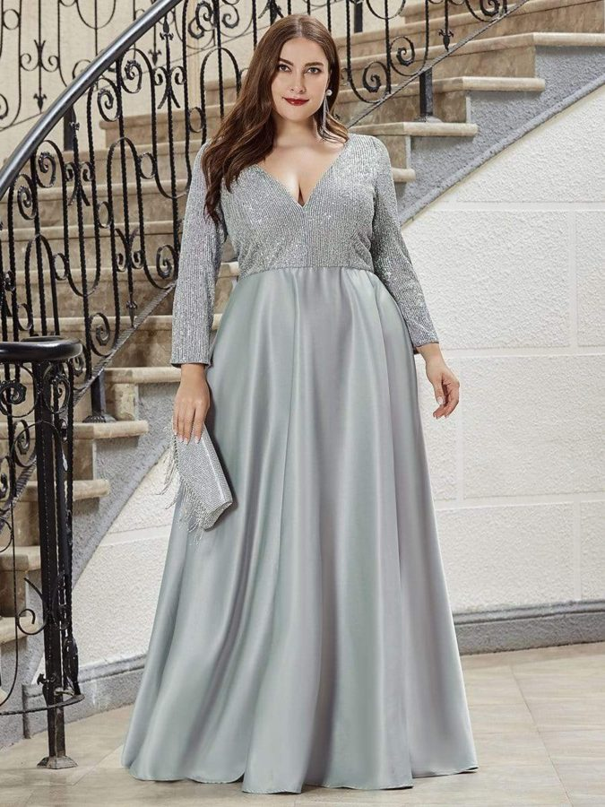 Evening-gown.-675x900 70+ Stylish Plus-Size Fashion Trends in 2021