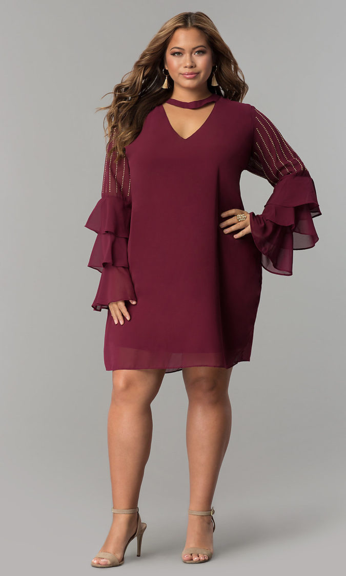 Evening-gown..-675x1125 70+ Stylish Plus-Size Fashion Trends in 2021