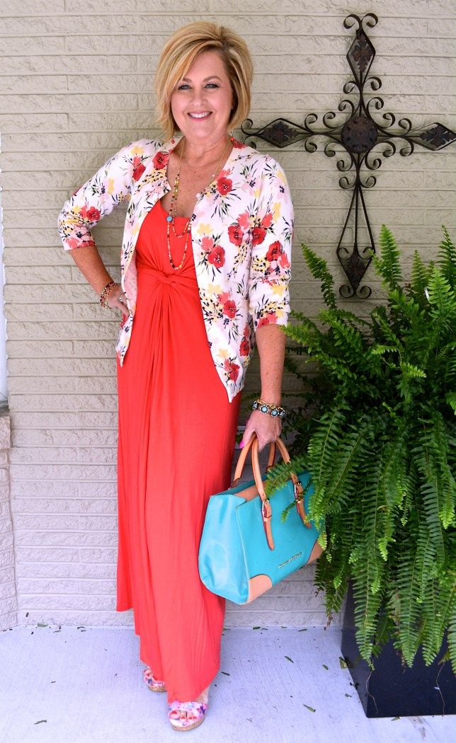 Maxi-outfits-.. 110+ Elegant Outfit Ideas for Women Over 60