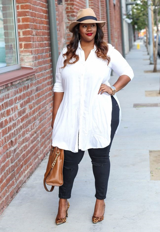 Pant-and-long-sleeve-shirt-1 70+ Stylish Plus-Size Fashion Trends in 2021