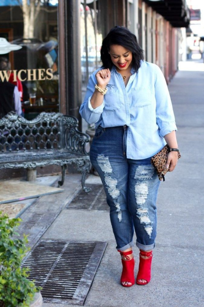 Pants-and-long-sleeve-shirt-1-675x1012 70+ Stylish Plus-Size Fashion Trends in 2021