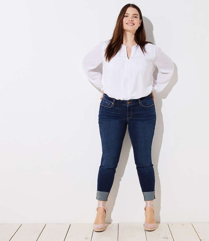Pants-and-long-sleeve-shirt-4-675x777 70+ Stylish Plus-Size Fashion Trends in 2021