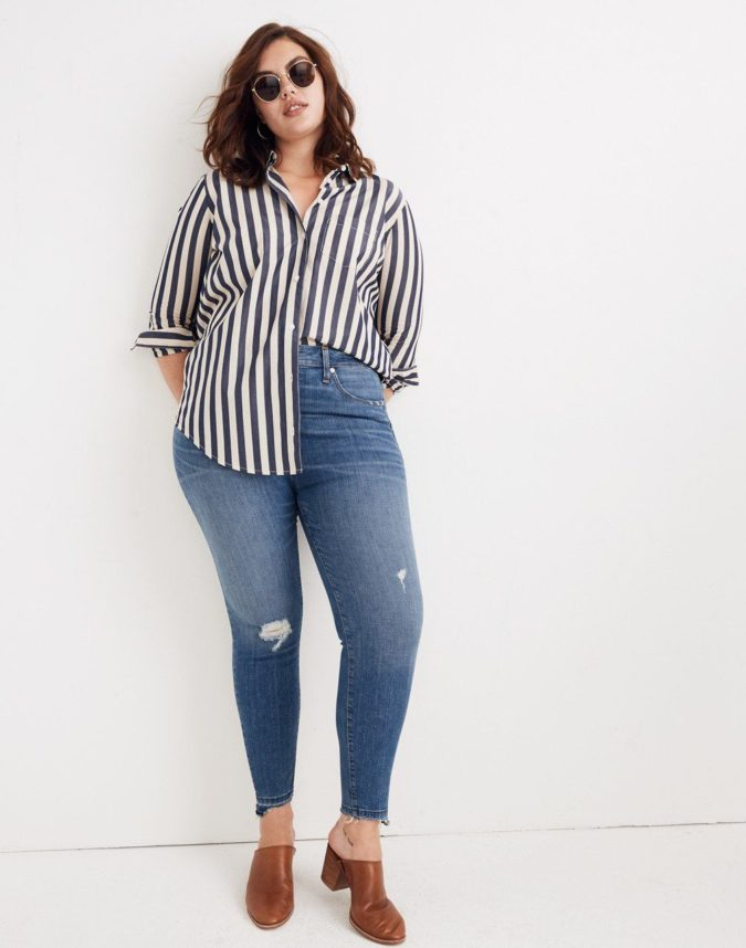 Pants-and-long-sleeve-shirt-5-675x858 70+ Stylish Plus-Size Fashion Trends in 2021