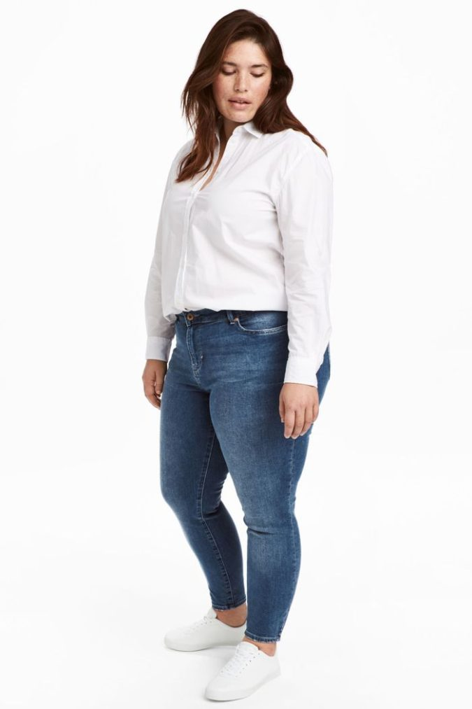 Pants-and-long-sleeve-shirt-675x1013 70+ Stylish Plus-Size Fashion Trends in 2021