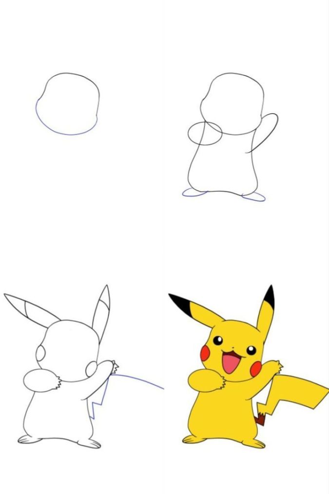Pikachu-675x1013 Top 10 Easiest Drawing Ideas for Kids