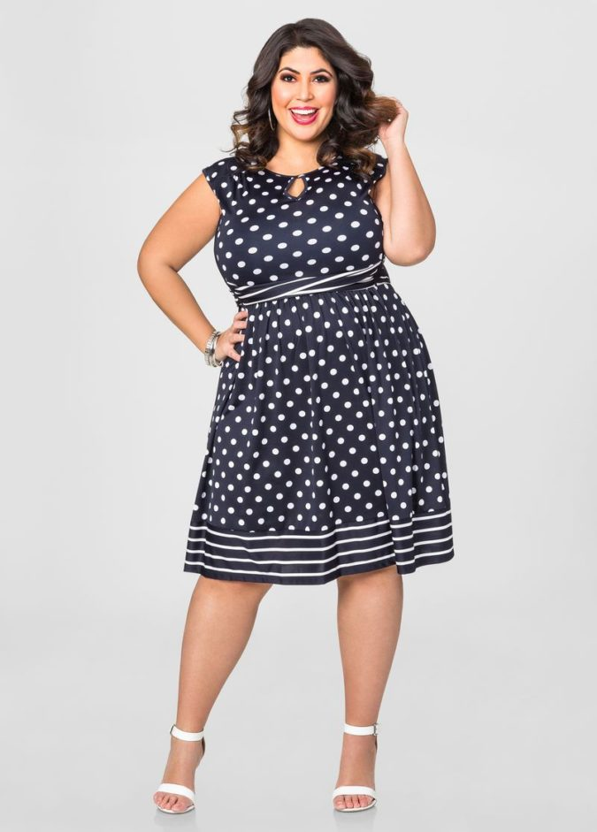Polka-dot-dress-1-675x941 70+ Stylish Plus-Size Fashion Trends in 2021