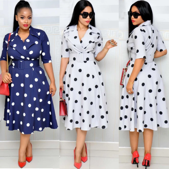 Polka-dot-dress.-675x675 70+ Stylish Plus-Size Fashion Trends in 2021