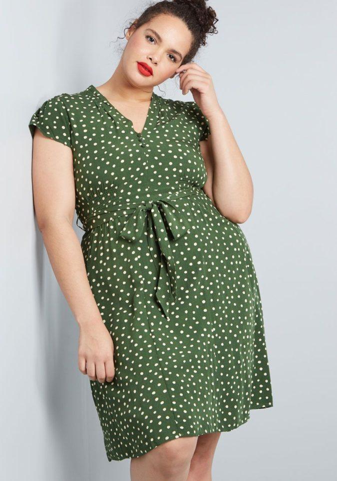 Polka-dot-dress..-675x964 70+ Stylish Plus-Size Fashion Trends in 2021