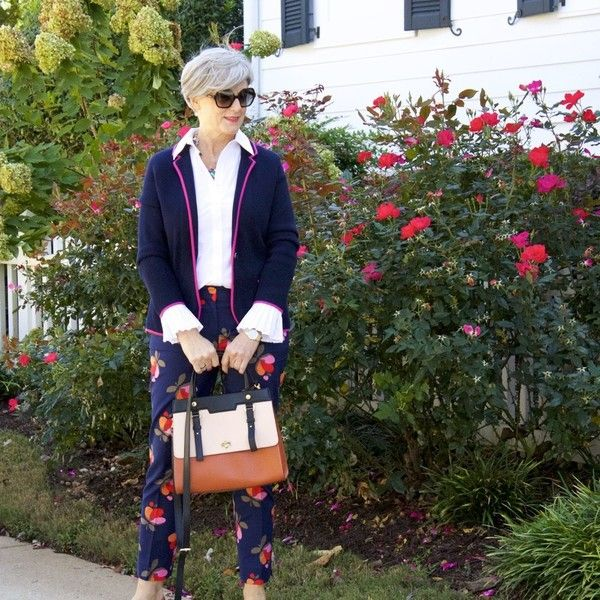 Printed-pants-.. 80+ Fabulous Outfits for Women Over 50