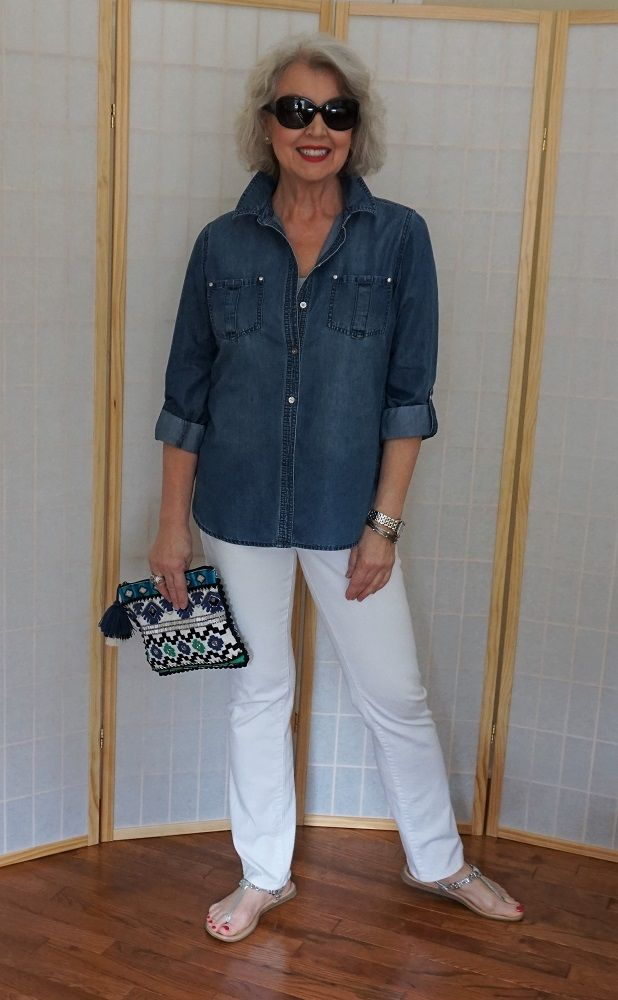 Shirt-and-trouser.-2 110+ Elegant Outfit Ideas for Women Over 60