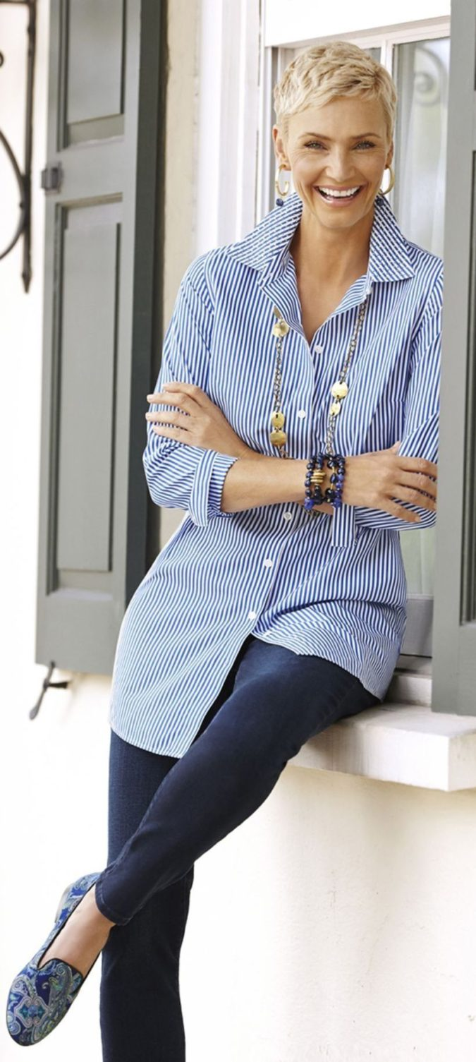 Shirt-and-trouser.-3-675x1505 110+ Elegant Outfit Ideas for Women Over 60