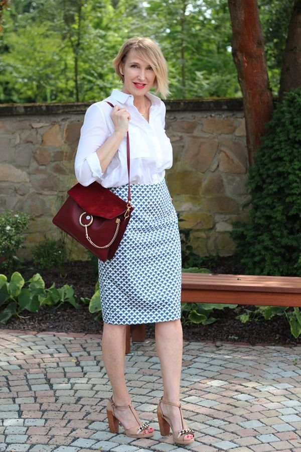 Skirt-and-blouse. 80+ Fabulous Outfits for Women Over 50