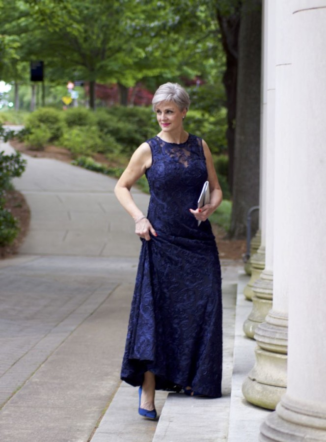 Sleeveless-gown. 80+ Fabulous Outfits for Women Over 50