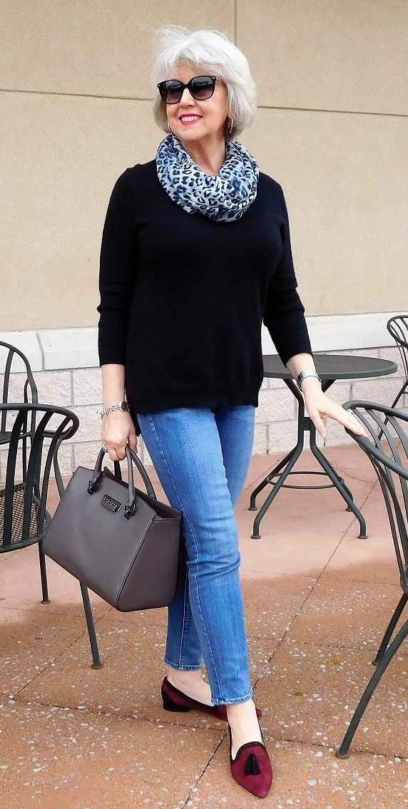 Sweater-and-pants 110+ Elegant Outfit Ideas for Women Over 60
