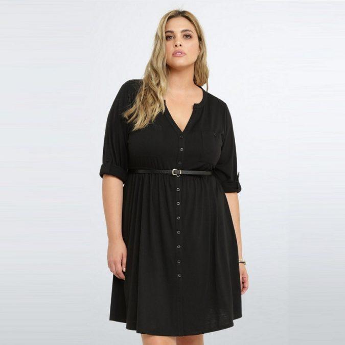 Waist-shirt-dress-675x675 70+ Stylish Plus-Size Fashion Trends in 2021