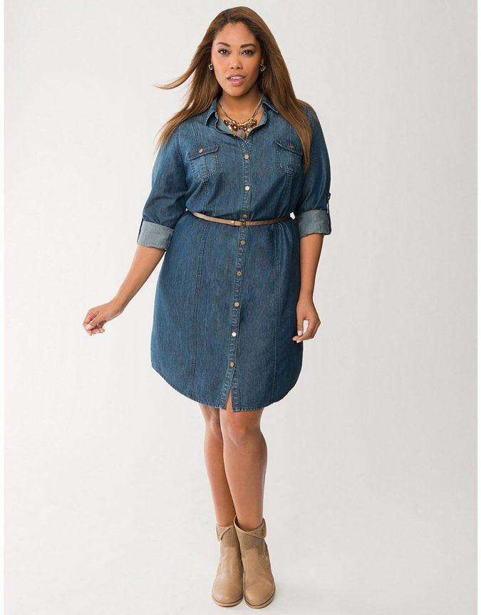 Waist-shirt-dress.-675x864 70+ Stylish Plus-Size Fashion Trends in 2021