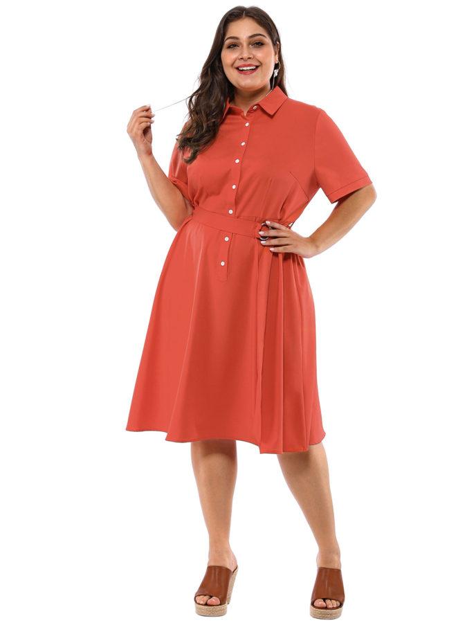 Waist-shirt-dress.-675x900 70+ Stylish Plus-Size Fashion Trends in 2021