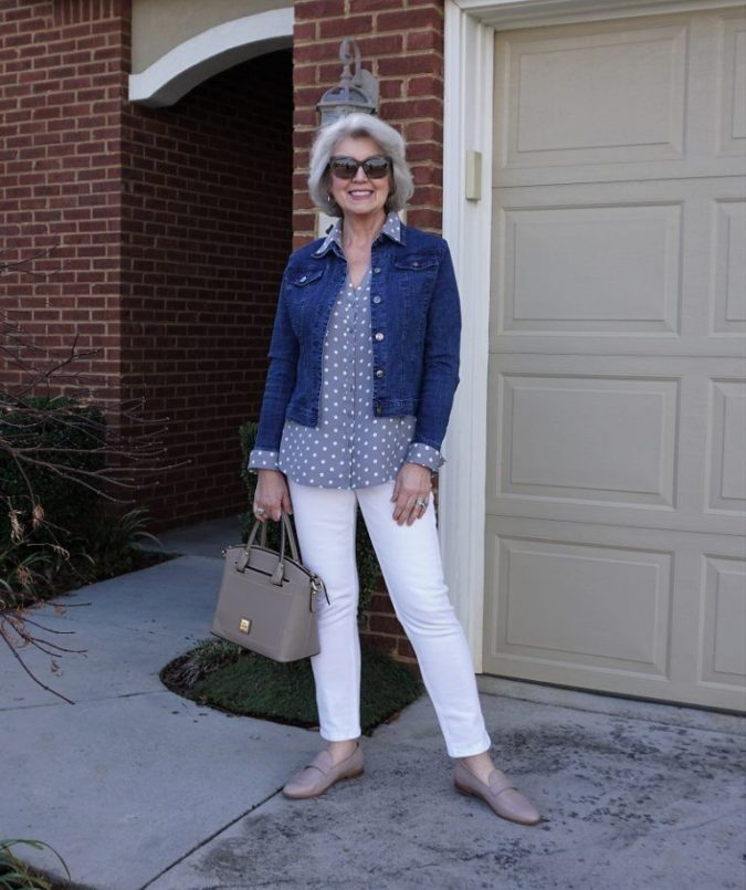 Wearing-denim-1-675x805 110+ Elegant Outfit Ideas for Women Over 60