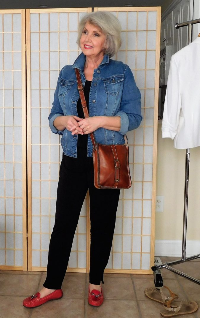 Wearing-denim-675x1071 110+ Elegant Outfit Ideas for Women Over 60